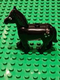 B-keuze Duplo paard zwart met hartjes en glitters beschadigd
