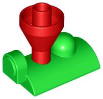 Duplo stoomtrein voorkant bovenkant groen rood