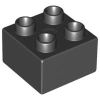 Duplo blokken 2x2 - bouwsteen zwart