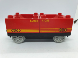 Duplo trein wagon rode containers 52088