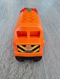 Duplo trein locomotief rood/oranje