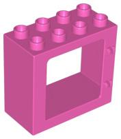 Raam frame donker roze