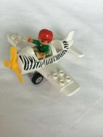 Lego Duplo dierentuin vliegtuig met poppetje