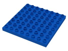 Duplo plaat 8x8 blauw