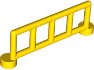 Duplo onderdelen : Duplo hekje geel met 5 staanders 2214