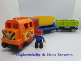 Duplo trein locomotief 10508 met 2 wagons
