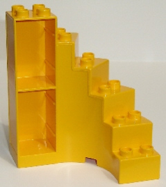 Duplo draai trap geel