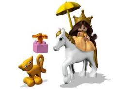 Duplo prinses en haar paard 4825