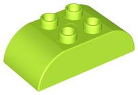 Duplo blokken : 2x4 met gecurvde bovenkant Lime