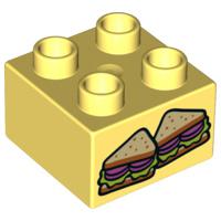 Duplo blokje met boterhammen sandwich