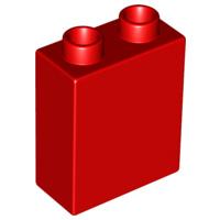 Duplo blokken 1x2x2 bouwstenen rood
