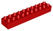 Duplo blokken : 2x10 duplo blokje rood