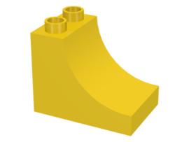 Duplo blokken : 2x3x2 met curve geel