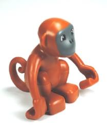 Lego Duplo dierentuin dieren bruin aapje
