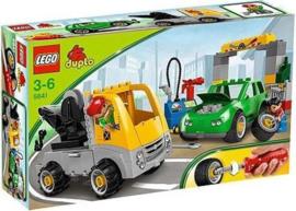 Lego Duplo drukte in de garage  5641 met doos