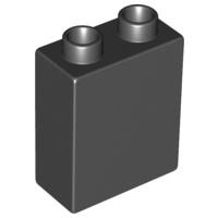 Duplo blokken 1x2x2 bouwstenen zwart