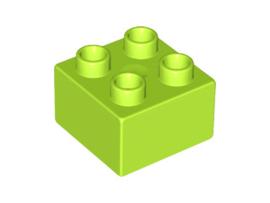 Duplo blokken 2x2 - bouwstenen Lime