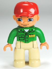 Lego Duplo dierentuin poppetje - verzorger