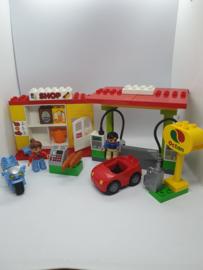 Lego Duplo benzinestation - tankstation 6171 compleet