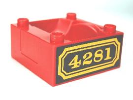 Duplo trein Cabine - Silo - container 4821 rood