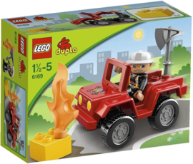 Lego Duplo brandweercommandant 6169 Quad met doos