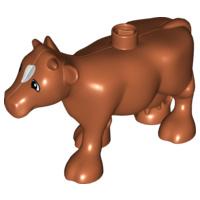 Duplo dieren : volwassen koe bruin met uiers