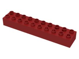 Duplo blokken : 2x10 duplo blokje donker rood