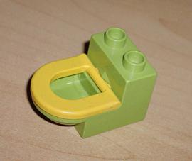 Toilet lime met gele bril