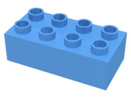 Duplo blokken 2x4 - bouwstenen licht blauw