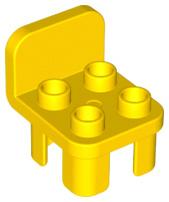 Duplo stoel geel met ronde leuning