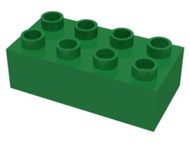 Duplo blokken 2x4 - bouwstenen groen