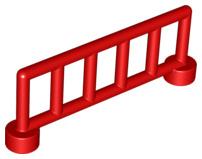Duplo hekje rood met 6 staanders
