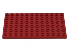 Duplo bouwplaat 6x12 donker rood