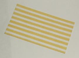 Duplo handdoek wit met gele strepen nieuw