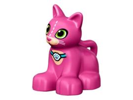 Duplo poes - kat  roze kitten met halsband