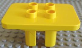 Tafel geel vierkant