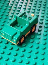 Auto groen met geel