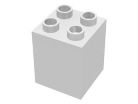 Duplo blokken : 2x2x2 wit