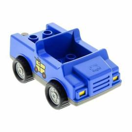 Postwagen blauw