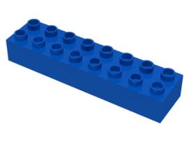 Duplo blokken : 2x8 duplo blokje blauw