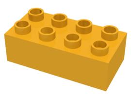Duplo blokken 2x4 - bouwstenen licht oranje