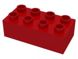Duplo blokken 2x4 - bouwstenen rood