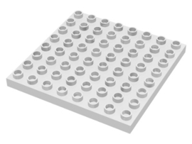 Duplo plaat 8x8 wit