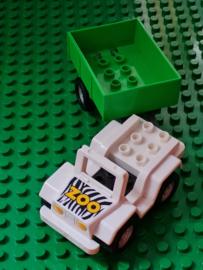 Lego Duplo dierentuin auto met aanhanger
