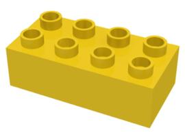Duplo blokken 2x4 - bouwstenen geel