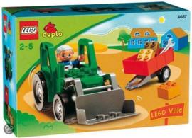 Duplo tractor met aanhanger 4687 met doos