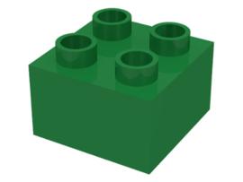 Duplo blokken 2x2 - bouwsteen groen