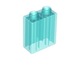 Duplo blokken 1x2x2 bouwstenen doorzichtig lichtblauw