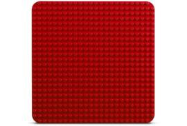 Duplo bouwplaat rood 24x24