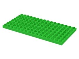 Duplo bouwplaat 8x16 licht groen